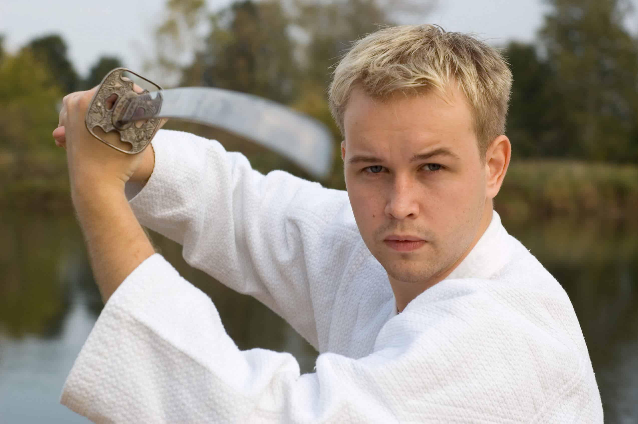 Martial Arts Lessons for Adults in Bayonne NJ - Samurai Sword Posing Blog