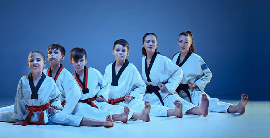 Martial Arts Lessons for Kids in Bayonne NJ - Kids Group Splits