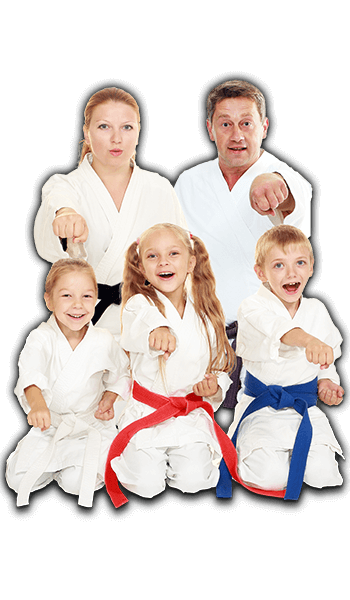 Martial Arts Lessons for Families in Bayonne NJ - Sitting Group Family Banner