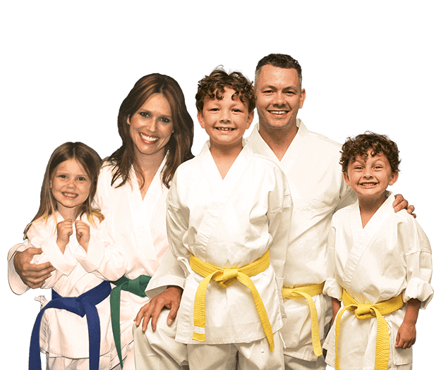 Martial Arts Lessons for Families in Bayonne NJ - Group Family for Martial Arts Footer Banner