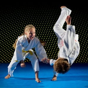 Martial Arts Lessons for Kids in Bayonne NJ - Judo Toss Kids Girl