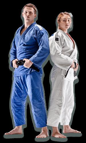Brazilian Jiu Jitsu Lessons for Adults in Bayonne NJ - BJJ Man and Woman Banner Page